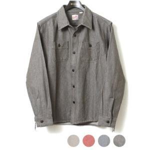 HOUSTON ヒューストン ネルシャツ ビエラワークシャツ[ソリッド] 40237|lea-rare
