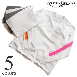 胸に大きくラインプリントを施したKAPTAIN SUNSHINEの半袖Tシャツ West Coast...