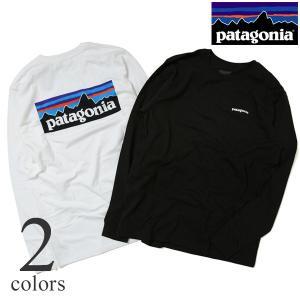 patagonia パタゴニア 長袖Tシャツ メンズ M's LONG-Sleeved P-6 Logo Cotton T-Shirt 38933|lea-rare