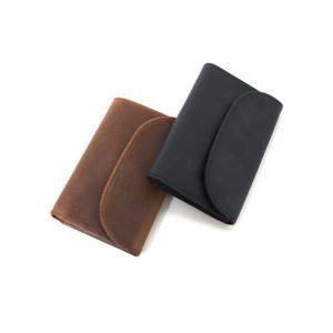 セトラー 財布 SETTLER 3FOLD PURSE WALLET 三つ折り財布 ウォレット OW1112 正規品 レザー 革 ホワイトハウスコックス 【ブラウン ブラック】|lea-rare