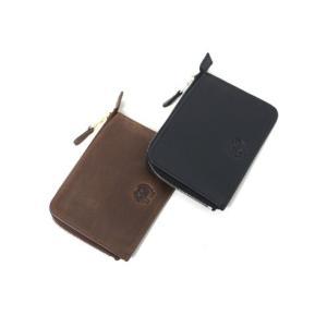 セトラー 財布 SETTLER ZIP CARD CASE ジップ カードケース コインケース OW2880 正規品 レザー 革 ホワイトハウスコックス 【ブラウン ブラック】|lea-rare