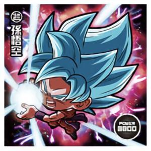 【W13-01 孫悟空 (BR ブラックレア) 】 ドラゴンボール超戦士シールウエハースZ 神の領域