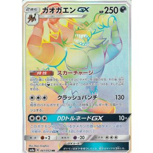 ポケモンカードゲーム  SM8a 061/052  ガオガエンGX 悪 (HR ハイパーレア) サン...