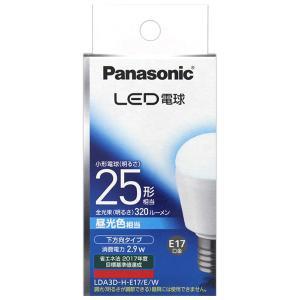 AE16 パナソニック LED電球 小形電球形 昼光色 下方向タイプ 25形 320lm E17 LDA3D-H-E17/E/W|lead
