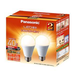 AN89 パナソニック LED電球 口金E26電球色 一般電球 広配光タイプ 2個入り LDA4LGEW2T|lead