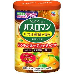 超目玉特価 LC39 アース製薬 薬用入浴剤 バスロマン にごり浴 柑橘の香り 600g lead