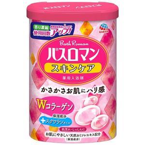 超目玉特価 LC42 アース製薬 薬用入浴剤 バスロマン スキンケア Wコラーゲン シトラスフローラルの香り 600g lead