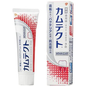 LD33 アース製薬 カムテクト ホワイトニング 歯周病歯肉炎・歯槽膿漏 予防 歯みがき粉 105g|lead
