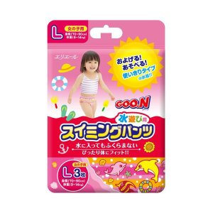 H211 大王製紙 グーン GOO.N スイミングパンツ 女の子用 Lサイズ 1パック 3枚入|lead