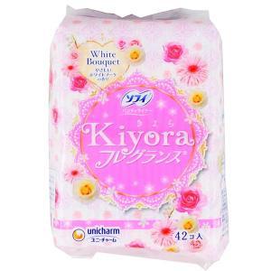 AG40 ユニチャーム ソフィ Kiyora フレグランス ホワイトブーケの香り 42枚入 おりものシート|lead