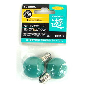C015 東芝 電球 あかりじょうず E12 グリーン IRO100V5WG30GA2P 2個セット|lead
