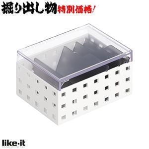 BL184 訳アリ like-it カードケース S CB-9001S ホワイト・グレー|lead
