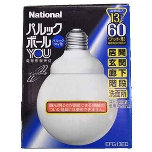 AP87 National ナショナル 60形 電球形蛍光灯 パルックボール パルックday色 昼光色 EFG13ED|lead