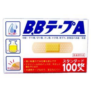 J412 B.BテープA スタンダード100枚入72mm×19mm 救急絆創膏期限2023年5月以降|lead