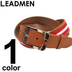 ゴルフ ベルト メンズ ゴルフベルト ゴルフ用品 golf キャンバスカラーライン|leadmen