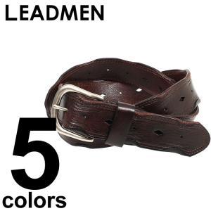 ベルト メンズ 本革 レザーベルト ビンテージデザイン ウエスタン|leadmen