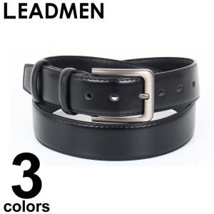ベルト メンズ シンプル 男性用 フェイクレザー モードデザインバックル ブラック ブラウン 黒 茶|leadmen