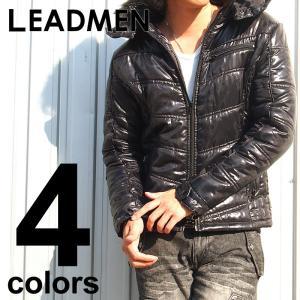 中綿ジャケット メンズ ブルゾン Vキルティング ファー お兄系 ジャケット アウター 上着 メンズジャケット メンズファッション 通販 半額|leadmen