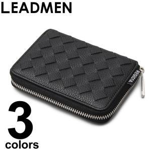 メンズ二つ折り財布/2つ折り財布 高級感のあるメッシュ編みこみ素材を使用したコンパクトウォレット シ...