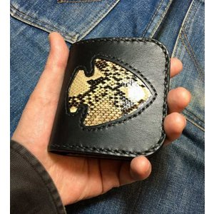 パイソン インレイワーク ビルフォード(rm233)|leather-teddys