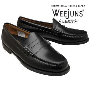 バス ローファー メンズ GH Bass Weejuns ビーフロールローファー ラーソン ブラック 本革 革靴