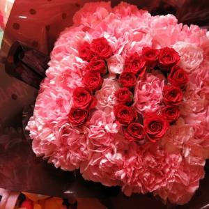 誕生日プレゼント あなたのご希望の数字 数字のフラワーアレンジメント 2ケタ