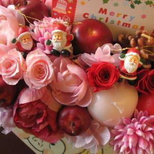 クリスマスプレゼント  花 フラワーギフト ミニサンタ プリ...