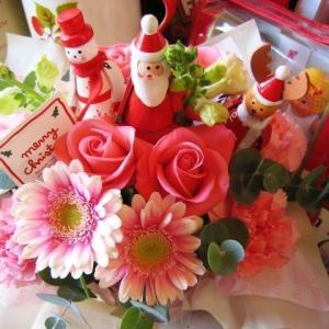 クリスマスプレゼント 花 フラワーアレンジメント サンタフレ...