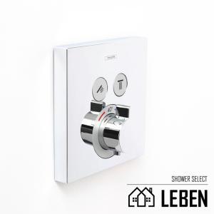 Hansgrohe ハンスグローエ SHOWERSELECT シャワーセレクト 埋込式サーモスタット混合水栓[15763000]|leben