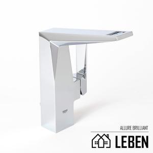 GROHE グローエ AllureBrilliant アリュールブリリアント シングルレバー洗面混合栓(引棒付) [23109000]|leben