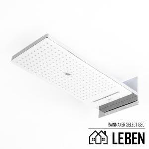Hansgrohe ハンスグローエ RainMaker Select レインメーカーセレクト580 3ジェットオーバーヘッドシャワー[24001400]|leben