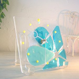 ガラス製インテリア掛け置き時計 Altea-001|leccia