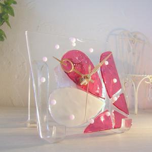 ガラス製インテリア掛け置き時計 Altea-002|leccia