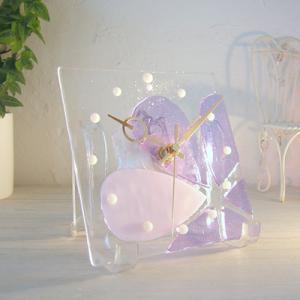 ガラス製インテリア掛け置き時計 Altea-003|leccia