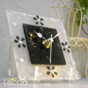 ガラス製インテリア掛け置き時計 colza-001|leccia