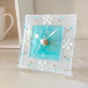 ガラス製インテリア掛け置き時計 colza-004|leccia