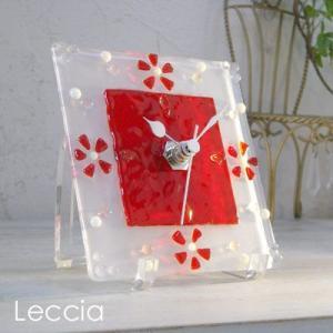 ガラス製インテリア掛け置き時計 colza-005|leccia