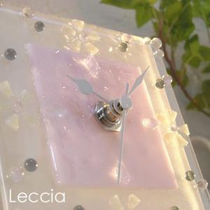 ガラス製インテリア掛け置き時計 colza-006|leccia