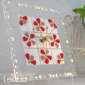 ガラス製インテリア掛け置き時計 Felice-004|leccia