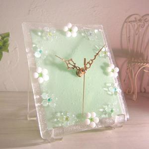 ガラス製インテリア掛け置き時計 Fiore-003|leccia