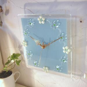 ガラス製インテリア掛け置き時計 Fiore-006|leccia