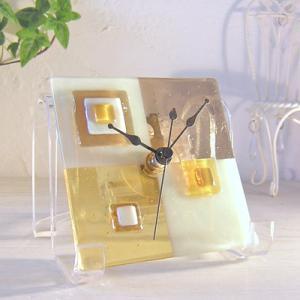 ガラス製インテリア掛け置き時計 Grata-001 leccia