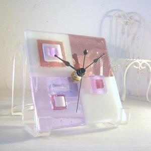 ガラス製インテリア掛け置き時計 Grata-003 leccia