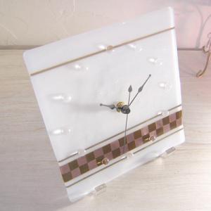 ガラス製インテリア掛け置き時計 Nubi-002|leccia