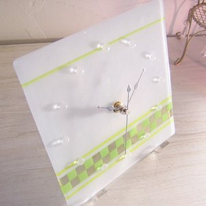 ガラス製インテリア掛け置き時計 Nubi-003|leccia