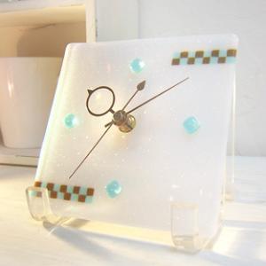 ガラス製インテリア掛け置き時計 Nubi-021|leccia
