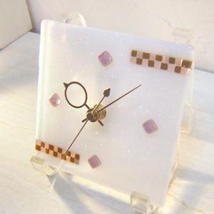 ガラス製インテリア掛け置き時計 Nubi-022|leccia