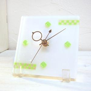 ガラス製インテリア掛け置き時計 Nubi-033|leccia