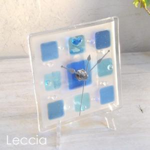 ガラス製インテリア掛け置き時計 Pacato-001|leccia
