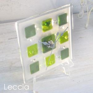 ガラス製インテリア掛け置き時計 Pacato-002|leccia